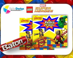 R�tulo Baton Lego Marvel Super Heroes