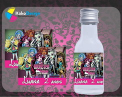 R�tulo para Garrafinha 50ml Monster High