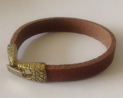 Bracelete Masculina Couro