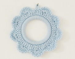 Moldura de croch� - Azul claro - P