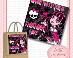 R�tulo Sacolinha Kraft Monster High