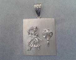 Medalha Oxum com Abebe em prata