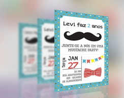 Convite - Festa do Bigode/Mustache Party