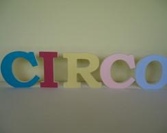 Letras decorativas-Circo