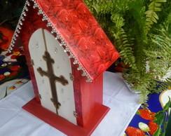 Capelinha (orat�rio) com Cruz na Porta