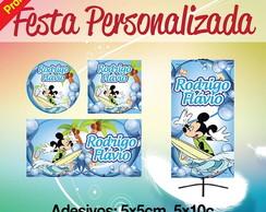 Kit festa 220 adesivos + banner