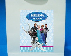 Sacola Papel Personalizada Frozen
