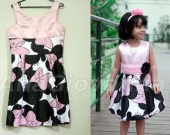 Vestidos M�e Filha Minnie Mouse Rosa