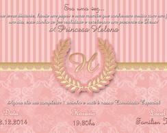 Convite Digital Coroa Princesa