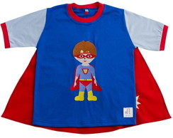 Camiseta com Capa Super Her�is