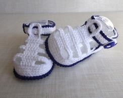 Sand�lia igor em croch�