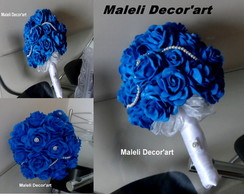 Bouquet de noiva- Rom�ntico azul
