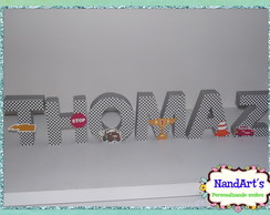 Letras decorativas 3D-Carros
