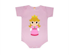 Body ou Camiseta Princesa Peach