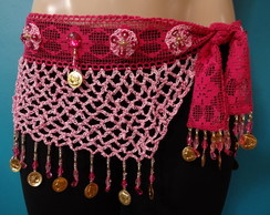 Len�o de quadril em croch� rosa