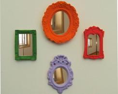 Kit Espelhinhos Decorativos (mini pe�as)