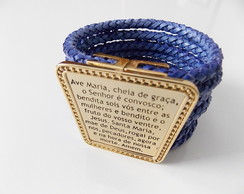Bracelete Ave Maria Azul Bic