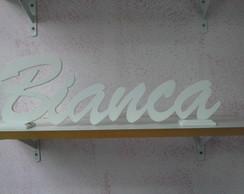 Nome em mdf e letra cursiva para parede