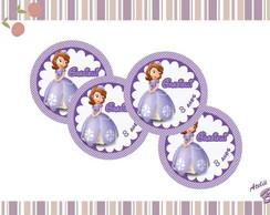 Tags ou Topper p doces Princesinha Sofia