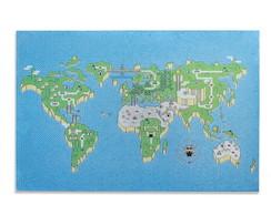 Mural Met�lico Super Mapa Bros