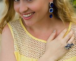 Anel Lux�ria Azul
