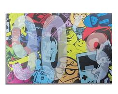 Mural Met�lico Nostalgia Anos 90