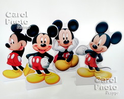 Kit c/ 4 totens de 25cm c/base do Mickey