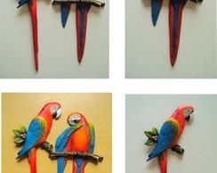 Kit Araras de Parede Coloridas (06 p�s)