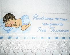 Lembrancinha - toalhinha bebezinho azul