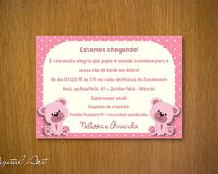 Convite Ch� de Beb� Ursinho G�meas