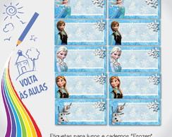 """Etiqueta escolar """"Frozen"""""""