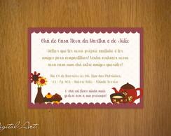 Convite Ch� de Casa Nova Marsala