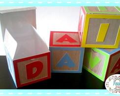 Caixinha cubo de letras Toy Story