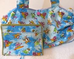 bolsa toalha e toalhinha de m�o c/ ziper