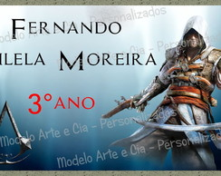 Etiqueta Escolar - Assassin's Creed