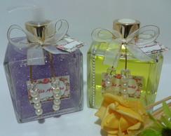 2 Vidros Cubo+Flor EVA-350ml