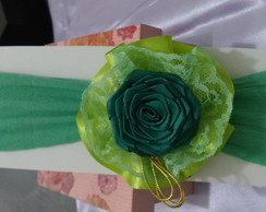 Faixa de Meia Rosa Verde