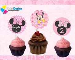 Topper cupcake Minnie Baby
