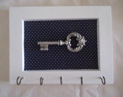 Porta chaves azul