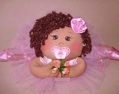 Boneca Bailarina Beb� Moreninha deitada