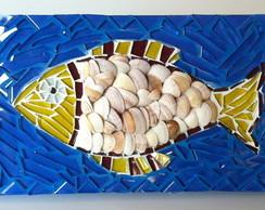 Quadrinho em mosaico Peixe com escamas