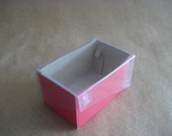 50 Caixa (5x8x4) Tampa Em Acetato