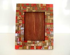 Porta Retrato - Marrom e Vermelho