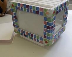 Caixa de fotos mosaico