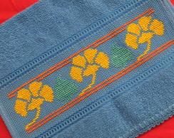 Toalha de m�o/boca - flor amarela