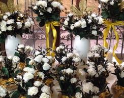 Kit festa branco puro & dourado I