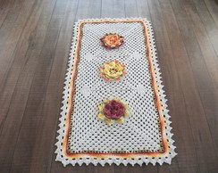 Tapete de croch� Grande com Flores