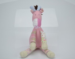 Girafa em Patchwork Rosa