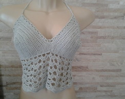 TOP CROPPED CINZA