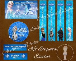 Kit Etiqueta Escolar Frozen